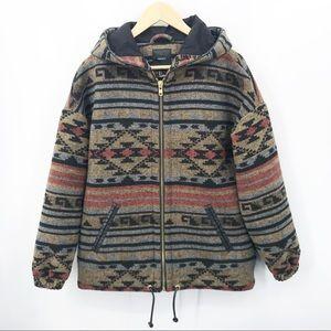 Forever 21 Aztec Western Southwest Hooded Jacket